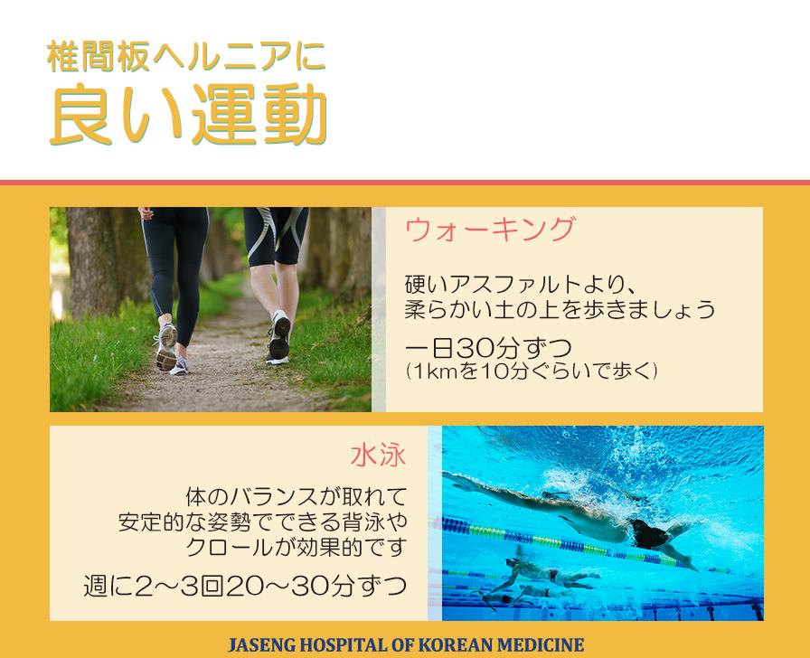 脊柱管狭窄症 脊椎管狭窄症 椎間板ヘルニア 自生韓方病院 いい運動 運動 ストレッチ 水泳 自転車 ボウリング 散歩